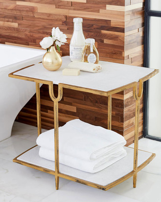 N. William D Scott Curve Gold Side Table