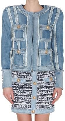Balmain Front Pockets Denim Jacket