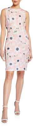 Calvin Klein Allover Daisy Sheath Dress