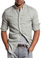 Brunello Cucinelli Leisure-Fit Linen Sport Shirt