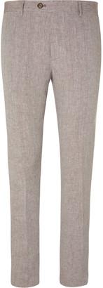 Etro Navy Slim-Fit Linen Suit Trousers