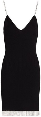 Jonathan Simkhai Bella Compact Rib Diamonte Mini Dress