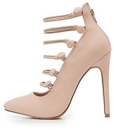 Charlotte Russe Strappy Button Pointed Toe Pumps