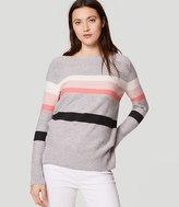 LOFT Striped Boatneck Tunic Sweater