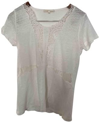 Maje White Linen Top for Women