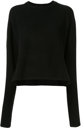 Y's Loose Fit Ribbed Knit Jumper