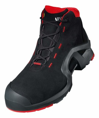UVEX 1 X-Tended Support Work Boots - Safety Boots S3 SRC ESD - Non-Slip - Oil and Petrol Resistant - Metal-Free Toe Cap