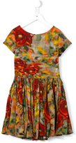 Morley rose ruched dress - kids - Viscose - 8 yrs