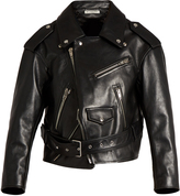 Balenciaga Glace leather biker jacket