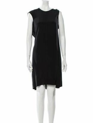 Alexander Wang Silk Knee-Length Dress Black