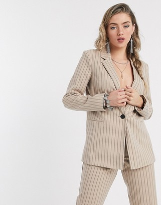 Vila suit jacket in pinstripe