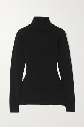 Stella McCartney Net Sustain Knitted Turtleneck Sweater - Black