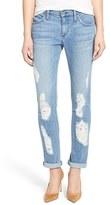 James Jeans Women's Distressed Slim Boyfriend Jeans