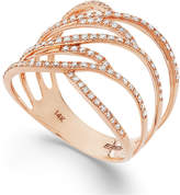 Effy Pavé Rose by Diamond Ring in 14k Rose Gold (3/8 ct. t.w.)