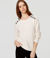 LOFT Ribbed Shoulder Button Sweater