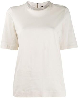 Fabiana Filippi ball-chain detail T-shirt