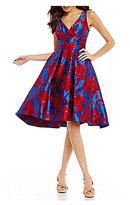 Eva Franco V-Neck Brocade Dress