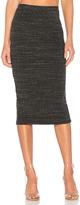 Monrow Rib Pencil Skirt