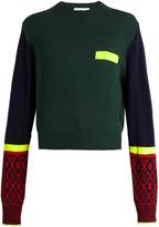 Toga Contrast-colour crew-neck sweater