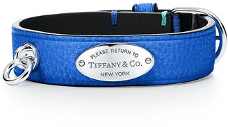 Tiffany & Co. Return to TiffanyTM narrow leather bracelet in cobalt blue with sterling silver