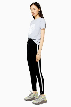 Topshop Womens Black Side Stripe Slim Joggers - Black