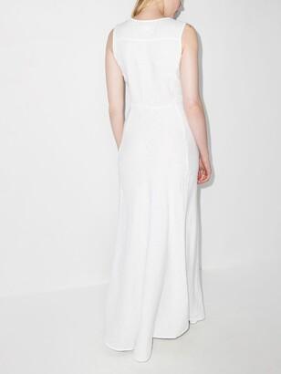 HONORINE Lisette linen maxi dress