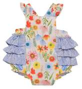 Baby Starters Wildflower Sunsuit in White/Blue