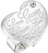 GUESS Script Logo Heart Stretch Ring