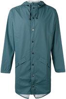 Rains long hooded jacket - men - Polyurethane/Polyester - XS