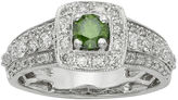JCPenney MODERN BRIDE 1 CT. T.W. Certified White and Color-Enhanced Green Diamond Ring