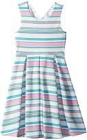 Us Angels Textured Striped Print Knit Dress (Big Kids)