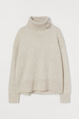 H&M Turtleneck Sweater with Brooch