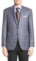 Canali Men's Classic Fit Plaid Wool Sport Coat