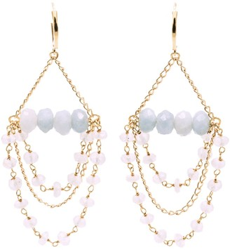 Salome Bridal Collection Tilly Aquamarine Gemstone Chandelier Earrings