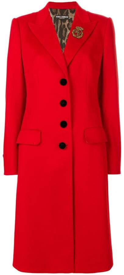 Dolce & Gabbana appliqué detail coat