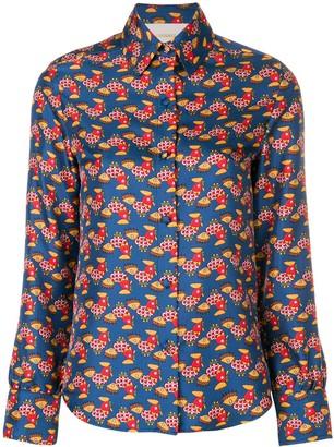 La DoubleJ Chicken Print Shirt