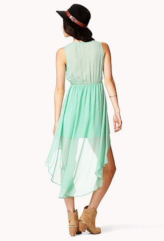 Forever 21 Windowpane Surplice Dress