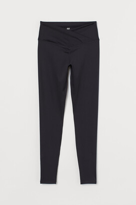 H&M Wrapover-waist sports tights