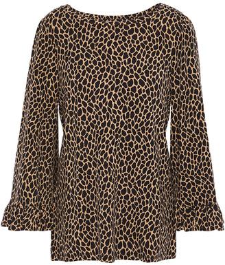 MICHAEL Michael Kors Leopard-print Jersey Top