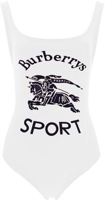 Burberry Logo Print Swimsuit