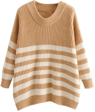 Goodnight Macaroon 'Gracia' Striped Knitted Sweater (7 Colors)