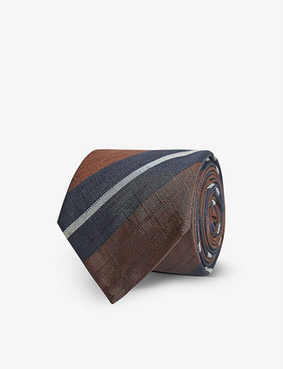 Reiss Bari striped silk-blend tie