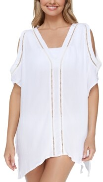 Thumbnail for your product : Raisins Juniors' Samba Caftan Cold-Shoulder Cover-Up Women's Swimsuit