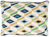 Jonathan Adler Bargello Diamonds Throw Pillow