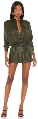 Amanda Uprichard X REVOLVE Leather Fritzi Dress