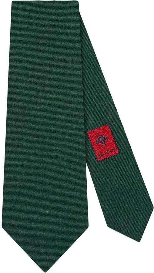 Gucci Preppy G underknot wool silk tie