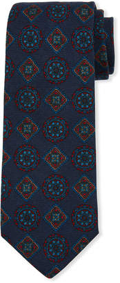Neiman Marcus Men's Medallion Wool Tie