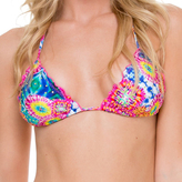 Luli Fama Crystallized Wavey Triangle Top In Multicolor (L51301)