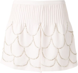 Couture Andrea Bogosian Pie embroidered shorts