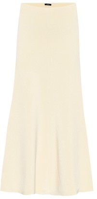 Joseph High-rise knit midi skirt